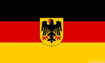 GERMANY WITH CREST - 8 X 5 FLAG